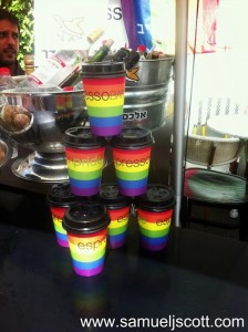 tel aviv gay pride coffee