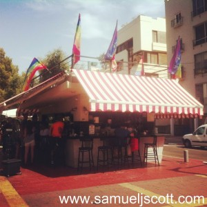 tel aviv gay pride cafe
