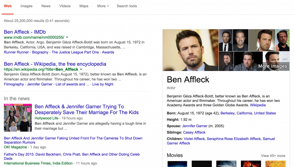ben affleck google search