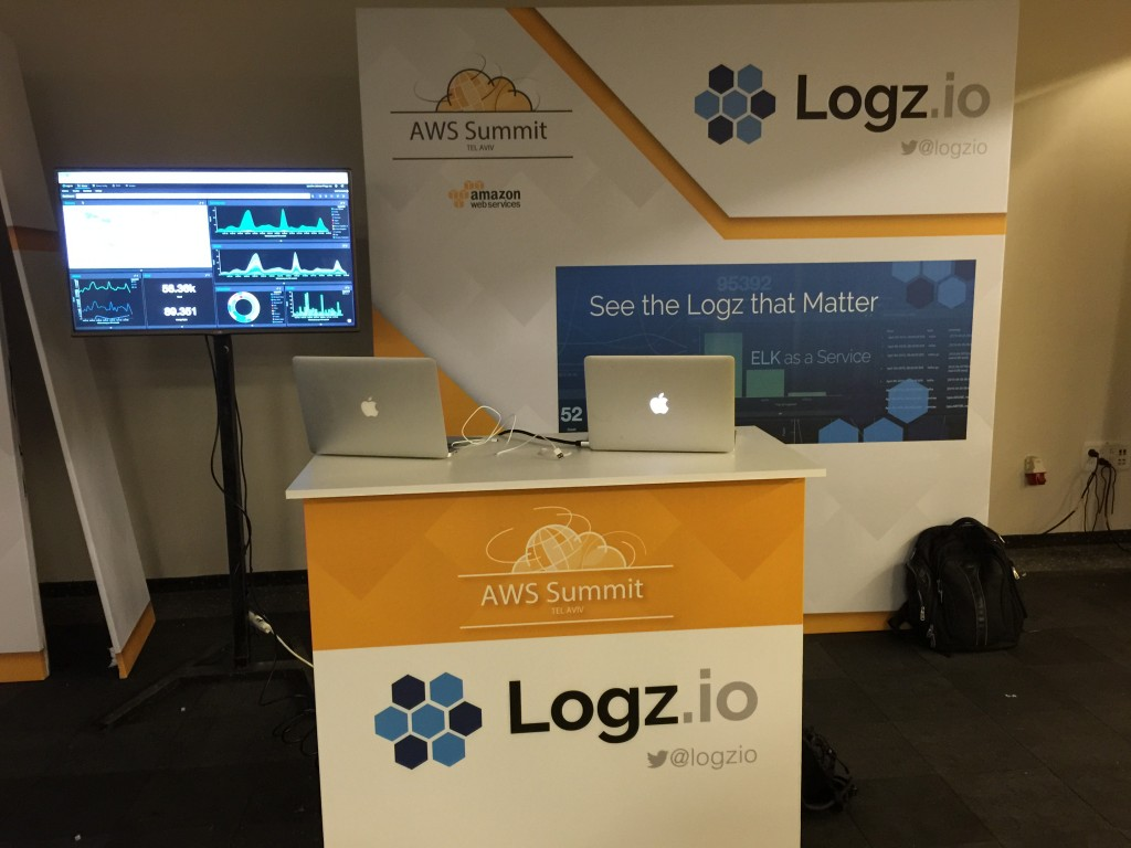 logz.io booth aws summit tel aviv