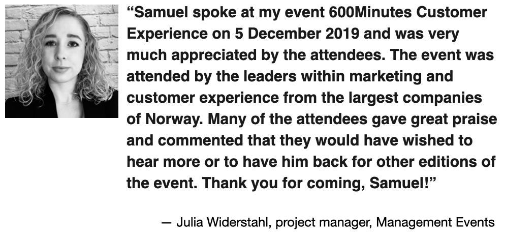 management events recommendation